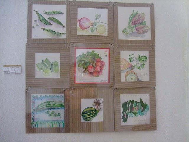 30 ans du Pochon : Aquarelles de légumes