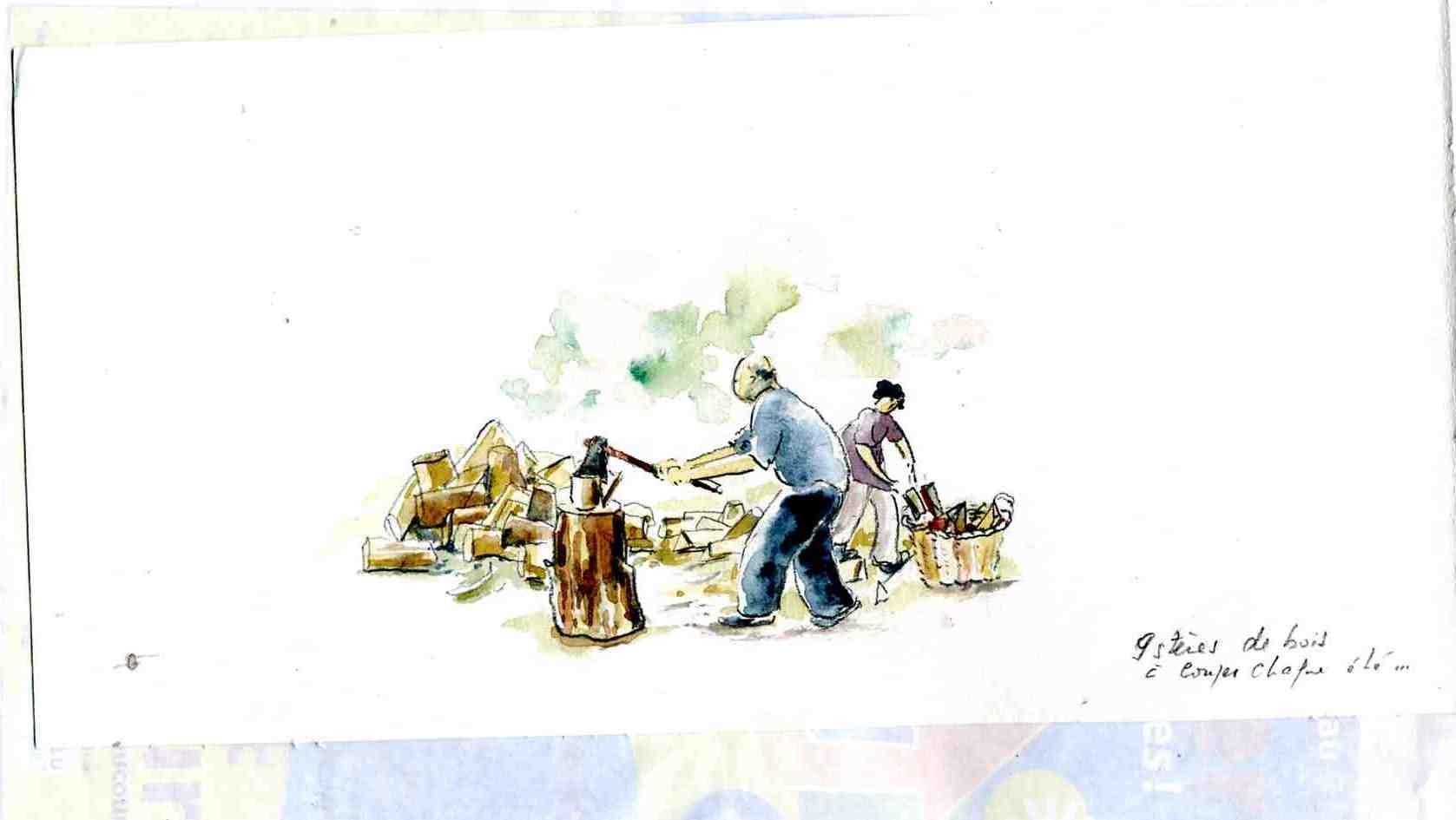 Coupons du bois Aquarelle de Marie José Clerc